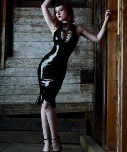 Black Vinyl PVC Dress