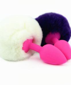 Cute Ergonomic Fur Silicone Anal Plug