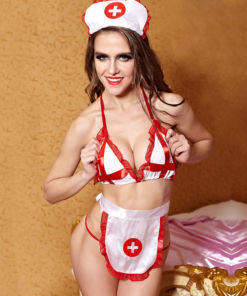 Naughty Nurse Bra Set Costume